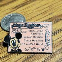Disney Mickey E Ticket Cast Lanyard Series Pin