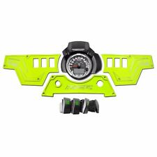 USA Billet 3 Piece Rocker Switch Dash Panel COMBO Polaris RZR S 900 Lime Squeeze