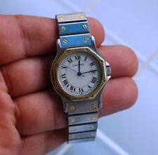 SANTOS de CARTIER automatic watch gold&steel octagon working condition,32mm