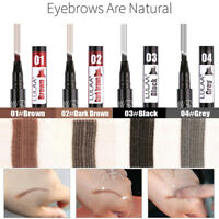 4 Tip Head Eyebrow Tattoo Fork Pen Microblading Eye Brow Enhancer Waterproof US