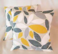 "14"" 16"" 18"" 20"" 22"" 24"" New Cushion Cover  Saffron Yellow Mustard Grey Handmade"