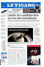 Le Figaro 14.4.2017 n°22606**CANDIDATS-LAÏCITÉ & VOTE MUSULMAN**TRUMP et $$ FORT
