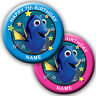PERSONALISED FINDING DORY (NEMO) BIRTHDAY BADGES/MAGNETS/MIRRORS 58MM or 77MM
