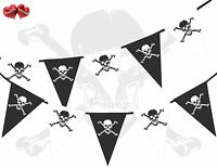 Pirate Skull Bones Assorted Themed Bunting Banner 15 flags 10 Ft by PARTY DECOR