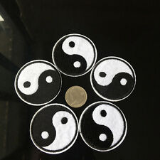 """5Pcs Embroidered Iron on Patches Mysterious TaiJi YinYang Applique 2.0"""" Badage"""