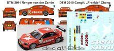 1/43 Decal Mercedes Benz C-Klasse DTM 'Stern' Cheng DTM 2010 / vd Zande DTM 2011