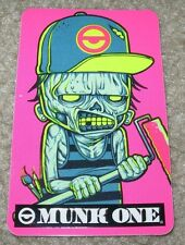 "MUNK ONE Sticker 3.25"" ZOMBIE PAINTER from poster print Invisible Industries"