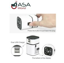 Universal Travel Dual 3200mA USB  Charger Adapter for Apple, iPod, iPad