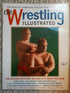 Vintage Wrestling Illustrated  Magazine March 1965 Graham Gotch Borne Apollo