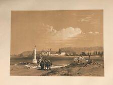 Valladolid puerta Santiago .George Vivian, litografia original.Londres 1838