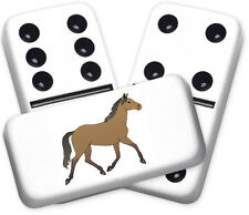 Americana Series Horse Design Double Six Dominoes