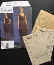 Vogue American Sewing Pattern Micheal Kors  V1117 4 6 8 10 Dress Fitted Uncut FF