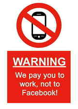 A5 Streich Arbeitsplatz ohne Facebook Aufkleber - Austritt Hazard chemische