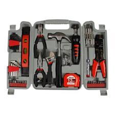 DIY Homeowners Tool Set 89 Piece Hammer Hex Key Plier Storage Case Hand Tool Kit