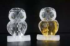 Cute Small Figurine Crystal Owl, Set of 2 Great Gift for Owl Lover