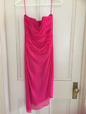 LADIES  DRESS -  SIZE 8/10 COCKTAIL LENGTH  CHIFFON - PINK IN VG TO EX. COND