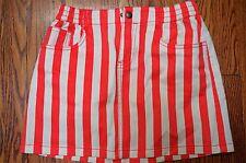 Boden Johnnie B girls orange stripe Claudia skirt sz 13-14