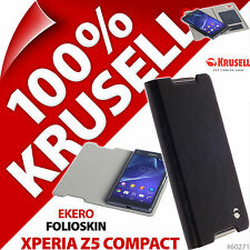 New Krusell Ekero Folio Skin Cover Wallet Case Black for Sony Xperia Z5 Compact
