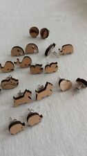 Unbranded Wooden Stud Fashion Earrings