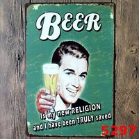 Metal Tin Sign beer  Decor Bar Pub Home Vintage Retro Poster Cafe ART