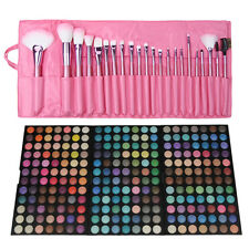 New 3pcs 252 Colors Easy-matching Eye Shadow Palettes + 22pcs Makeup Brush Set