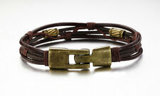 Vintage Genuine Leather Men's Bracelet Bangle Wristband gb0614855f