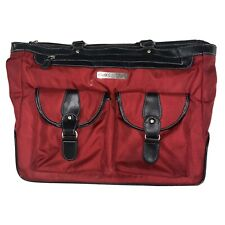 Clark & Mayfield Travel Bag Computer Red Black Large Tote Business Strap