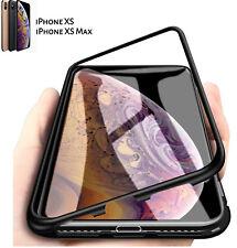 COVER CUSTODIA MAGNETICA ALLUMINIO VETRO TEMPERATO per Iphone 6 6S 7 8 X XS