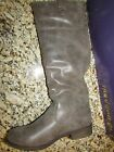 NEW STEVE MADDEN MADDEN GIRL CAPIITOL CAPITOL TALL BOOTS WOMENS 6 BROWN RIDING