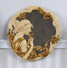 Wall Mirror Art Nouveau Bust Relief Secession Girl's Head