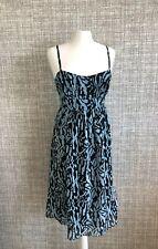 LAURA LEES For TOPSHOP Vintage Arctic Leopard Print Summer Dress SIZE L 14-16