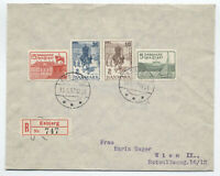 1937 Denmark 25th anniversary Christian X FDC #258-61 on registered cover[S.167]