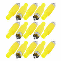 RCA Male Jack Audio Video AV Cable Connector Coverter Adapter Yellow 15 Pcs