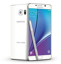 """White 5.7"""" Samsung Galaxy Note 5 SM-N920T T-Mobile 3G/4G 32GB Unlocked Cellphone"""