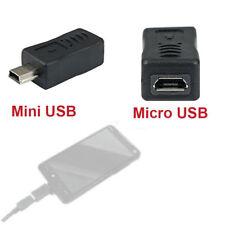 Black Micro USB Female to Mini USB Male Adapter Data Charger Converter Adaptor