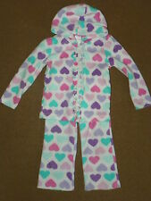 2-Pc Baby Girls WONDER KIDS Fleece OUTFIT Jacket Hoodie Pants Size 2T Hearts
