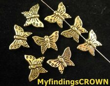 60pcs Antiqued gold beauty butterfly spacer beads FC142