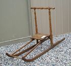 Vintage Norwegian Kicksled Kick Sled Great Exercise Winter FUN Excellent Cond