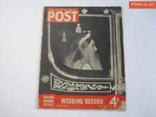 1947 NOV. PICTURE POST MAGAZINE QUEEN ELIZABETH WEDDING