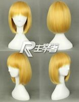 Attack on Titan Armin Arlart Short BoB Blonde Cosplay Straight Anime Wig