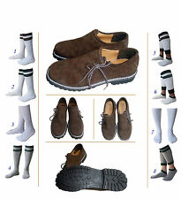 New German Bavarian Oktoberfest Trachten Men Lederhosen Leather Shoes Set Lw66