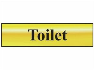 Scan - Toilet - Polished Brass Effect 200 x 50mm