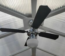 "36"" Westinghouse Ceiling Fan - with Remote Control - Chrome and Black"
