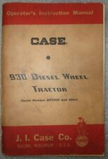 Case 930 Diesel Wheel Tractor Operators Owner Manual Book Factory Original Oem