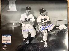 Tommy Lasorda & Steve Garvey Signed Dodgers 16x20 Photo *1981 WS Champs Beckett