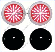 Flat Mount Red LED Taillights Roll Pan Bumper Custom Ford Pickup Truck P50 2
