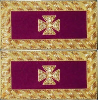 KNIGHT TEMPLAR EMINENT COMMANDER SHOULDER BOARDS PAIR HAND EMBROIDERED SB-015