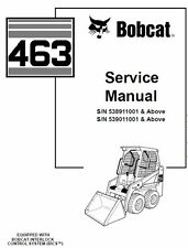 Bobcat 463 Series All Models Skid Steer Loader Service (3) Manuals ON CD +Bonus
