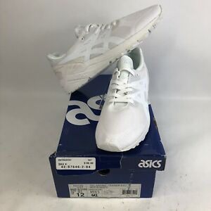 NIB Mens 12 Asics Gel Kayano Trainer Evo Running Shoes All White H5Y3Q Lace Up
