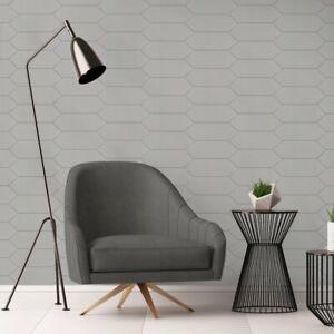 Modern 4X12 Large Diamond Gray Subway Glossy Porcelain Tile MTO0456